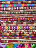 Mexican blankets. Colorful display of Mexican blankets Stock Photography