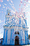 Mexican blue Church Stock Images