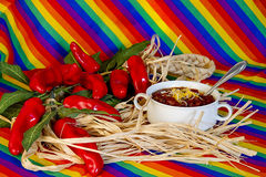 Mexican Bowl of Chili Royalty Free Stock Photo
