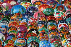 Mexican Bowls. Colorful souvenir Mexican bowls for sale in Mexico Royalty Free Stock Photography