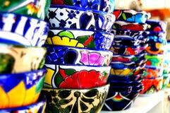 Mexican Bowls Talavera Stock Photos