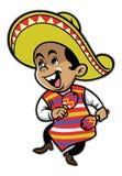 Mexican boy mascot Royalty Free Stock Photo