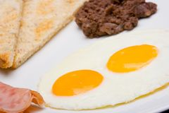 Mexican breakfast with ham. Stock Images