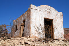 Mexican building 2. Small mexican building as part of Contrabando movie set near Lajitas in Big Bend National Park royalty free stock images