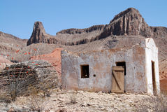 Mexican building. Small mexican building as part of Contrabando movie set near Lajitas in Big Bend National Park stock photography