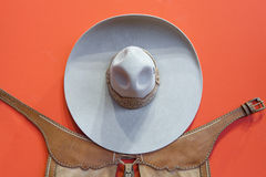 Mexican bullfighter grey hat Stock Image