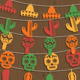 Mexican bunting decoration Stock Photos