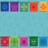 Mexican bunting ornament Stock Image