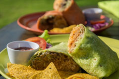 Mexican burrito Royalty Free Stock Image