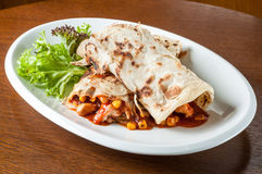 Mexican burrito Royalty Free Stock Photography