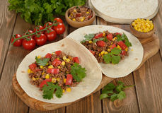 Mexican burritos Stock Images