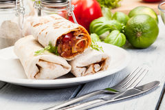Mexican burritos Royalty Free Stock Photo