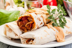 Mexican burritos Royalty Free Stock Image