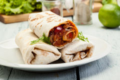 Mexican burritos Stock Image