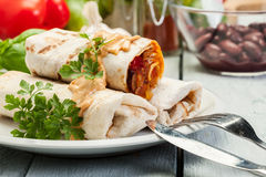 Mexican burritos Stock Photo