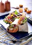 Mexican burritos prawn stock photography