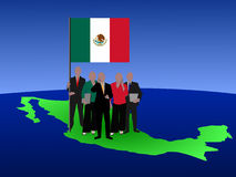 Mexican business team Royalty Free Stock Photo