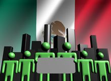 Mexican business team with skyline Royalty Free Stock Photos