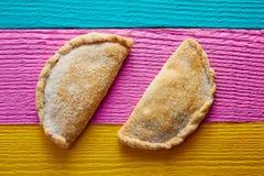 Mexican Cajeta caramel patty pie with sugar Royalty Free Stock Photo