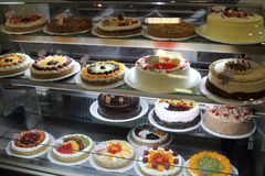 Mexican cakes and pastries. Cakes at a pastry shop in Mexico city. Mexican desserts Royalty Free Stock Photo