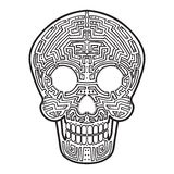 Mexican Calavera Skull. Cyber Theme Decoration vector illustration