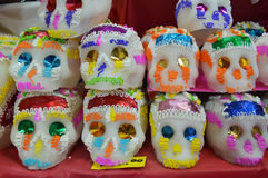 Mexican candy skulls for dia de muertos Royalty Free Stock Photos
