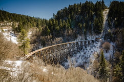 Mexican Canyon Trestle Vista - Lincoln National Forest -New Mexi Stock Photo