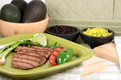 Mexican carne asada plate Royalty Free Stock Image