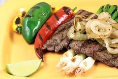 Mexican carne asada plate Stock Photos
