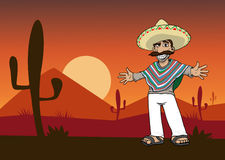 Mexican cartoon man Stock Photography