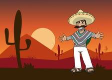 Mexican cartoon man Stock Photography