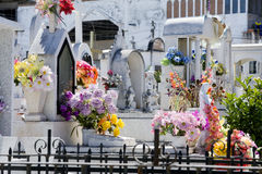 Mexican cemetary. Royalty Free Stock Photography