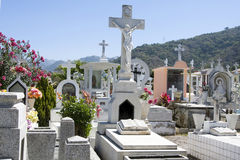 Mexican cemetary. A beautiful cemetery near Puerto Vallarta, Jalisco, Mexico Stock Photo