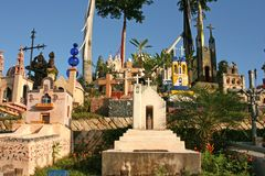 Mexican cemetary. An old cemetary at Xcaret, Mexico stock image