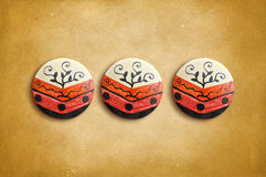 Mexican ceramic decoration on a vintage background Royalty Free Stock Photo