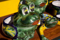 Mexican ceramic frog Stock Images