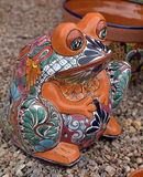 Mexican ceramic frog Royalty Free Stock Photos