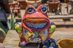 Mexican ceramic frog Stock Photography