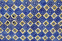 Mexican ceramic mosaic wall - tile background. Texture - wallpaper Royalty Free Stock Photography