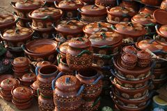 Mexican ceramics stock photography