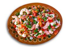 Mexican Ceviche recipe with shrimp stock photo