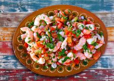 Mexican Ceviche recipe with shrimp stock images