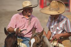 Mexican charros horsemen in sombreros, TX, US Royalty Free Stock Image