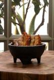 Mexican chicharron carnudo Stock Photo