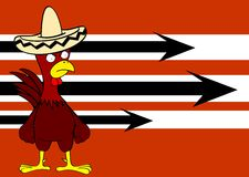 Mexican chicken background Royalty Free Stock Images