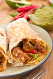 Mexican chicken and beef fajitas Royalty Free Stock Images