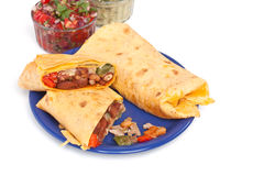 Mexican Chicken and Beef Fajitas Royalty Free Stock Photography
