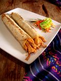 Mexican chicken burritos royalty free stock image