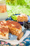 Mexican Chicken and Corn Tortilla Pie Royalty Free Stock Photos