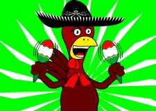 Mexican chicken mariachi background8 Stock Photography